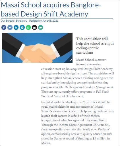 Masai school The Hindu Business Line News Design Shift