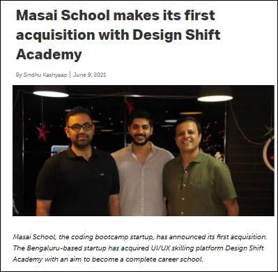 Masai school YourStory News Design Shift